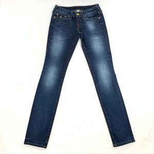 True Religion Womens 25 Skinny Low Rise
